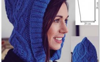 Шапка-капюшон: схема вязания настоящей находки для женщин