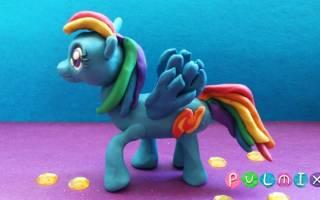 Как сделать пони из «дружба — это чудо» из пластилина: поэтапный мастер-класс