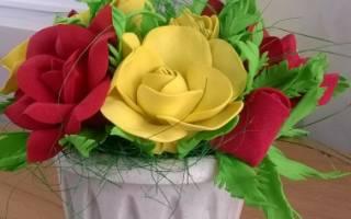 Фоамиран «цветы»: мастер-класс для начинающих мастериц