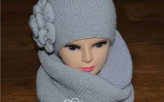 Комплект шапка и снуд спицами: модные и теплые обновки